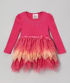 Love this Hot Pink & Orange Tutu Dress by Beautees on #zulily! #zulilyfinds
