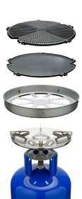 CADAC - Outdoor Chef Portable Gas Braai - 4 Interchangeable Cooking Surfaces
