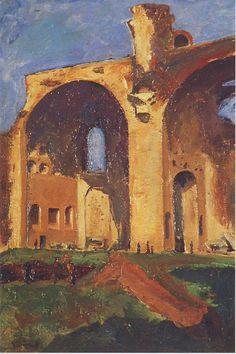 Basilica of Constantine in Rome by Winston Churchill