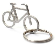 自転車の形をしたシンプルなキーホルダー
