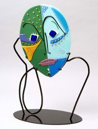fused glass faces - Google Search