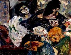 Portrait of the Buchan Family, Oil on board, x cm by Mountford Tosswill (Toss) Woollaston, NZ. Australian Art, No One Loves Me, Art Auction, Tossed, Impressionist, 2d, Portrait, Board, Artist