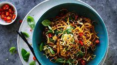 Stir-fry of chicken with hokkien noodles
