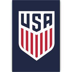 US Soccer Crest Poster (Navy)