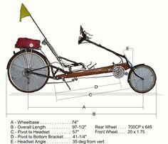 Resultado de imagem para easy recumbent bike plan