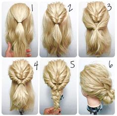 Simple updos for long curly hair - New Haa .-Einfache Hochsteckfrisuren für lange lockige Haare – Neu Haare Frisuren 2018 Simple updos for long curly hair – new hair hairstyles 2018 - Chignon Simple, Simple Braids, Up Dos For Medium Hair, Medium Hair Updo Easy, Thick Hair Updo, Updos For Medium Length Hair Tutorial, Easy Updos For Long Hair, Easy Hairstyles For Thick Hair, Hair Tutorials For Medium Hair