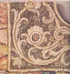 Russian freshwater pearl embroidery