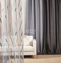 Loft-Style - transparenter Vorhang LUX und gewebter Vorhang JAZZ von Apelt