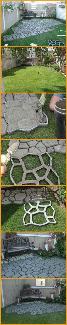 Molde para hacer mosaicos de pa tio exterior