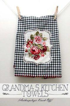Free Sewing Tutorial - Grandma's Kitchen Towels