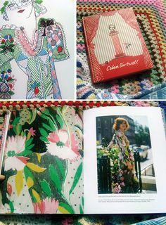 Celia Birtwell by Celia Birtwell book Textile Prints, Textile Design, Floral Design, Floral Fashion, Colorful Fashion, Celia Birtwell, Ossie Clark, Artist Journal, Fashion Drawings