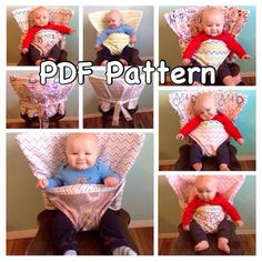 Have you ever been to a party, restaurant or friends house and wished you had a highchair? Are you tired of lugging around a bumbo seat or Sewing For Kids, Baby Sewing, Siege Bebe, Sewing Crafts, Sewing Projects, Diy Bebe, Baby Safe, Baby Kind, Baby Crafts