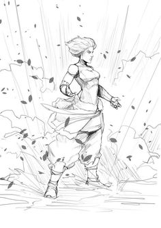 Korra Power by Sketchydeez on DeviantArt Character Poses, Character Drawing, Drawing Reference Poses, Drawing Poses, Avatar The Last Airbender Art, Poses References, Art Poses, Art Drawings Sketches, Figure Drawing