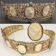 cameo and paste tiara from III napoleon era