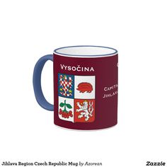 Shop Vysočina Region Czech Republic Mug created by Azorean. Custom Gifts, Customized Gifts, Czech Republic, Favorite Color, Dinnerware, Coffee Mugs, Bohemian, Ceramics, Personalized Gifts