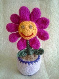 Horgolt virág