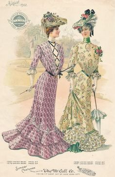 what-i-found: Summer Promenade Costumes from McCall's Magazine - 1902