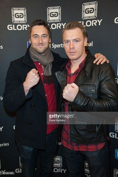 Actors Diego Klattenhoff and Ryan Eggold attends the GLORY12 at The Theater at Madison Square Garden on November 23, 2013 in New York City.