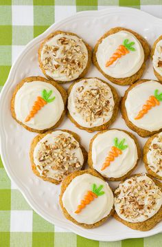 """"""" I wanted to switch things up a bit this time around and make these cookies more similar to the texture of carrot cake without any oats. Everyone in my family loved these cookies, kids included."""" Recipe from @cookingclassy"""