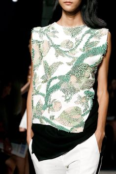 Narciso Rodriguez S/S'13 - wow, this is breathtaking beadwork and with the black
