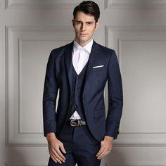 Mens Slim Suits Set 3- Psc Blazer+Vest+Pants