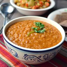 """Ethiopian Red Letils: Mesir Wat (Ethiopian Lentil Stew - I love making Ethiopian recipes. If you purchase """"burbere"""" spice at an Ethiopian restaurant or store, it will open a door to Ethiopian cooking, which is ADDICTING"""