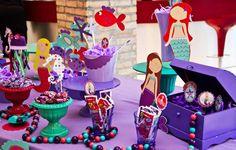 festa aniversário tema fundo do mar