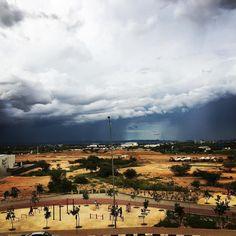 Storms over #Windhoek