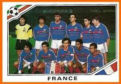 France team group at the 1986 World Cup Finals.