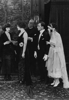 "kittyinva:  1920 Buster Keaton in ""The Saphead"".   So tiny bride!"