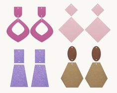 Polymer Clay Crafts, Polymer Clay Earrings, Leather Earrings, Leather Jewelry, Shape Templates, Leaf Jewelry, Svg Cuts, Etsy Earrings, Stencils