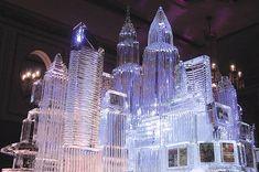 NYC ice sculpture