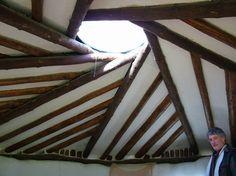 Interesting reciprocal roof design - 5 rafters per twist...  http://www.lammas.org.uk/lowimpact/images/medNWalesMarch2007034.jpg