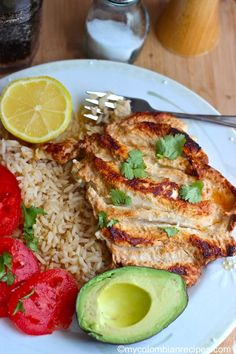 Pollo a la Plancha (Colombian-Style Grilled Chicken Breast) From: My Colombian Recipes My Colombian Recipes, Colombian Cuisine, Colombian Dishes, Comida Latina, Columbia Food, Columbian Recipes, Cooking Recipes, Healthy Recipes, Breast Recipe