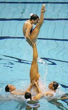 This was me ! synchronized swimming is alot harder than it looks.