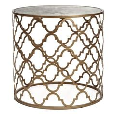 Moroccan side table | Gold side tables | Meridian side table