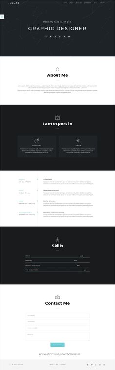 Unica Personal One-page HTML5 Template - resume website template