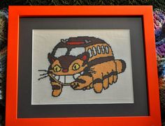 Catbus from My Neighbor Totoro Cross Stitch PDF by CowlQueen