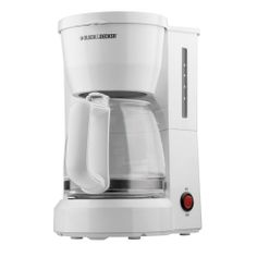 Black & Decker DCM600W 5-Cup Drip Coffeemaker with Glass Carafe, White - http://www.teacoffeestore.com/black-decker-dcm600w-5-cup-drip-coffeemaker-with-glass-carafe-white/