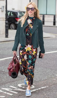Fearne Cotton pictured arriving at the BBC Radio 2 studios in London on July 2016 Fearne Cotton, Casual Chic, Dress Casual, Floral Kimono Outfit, Styled By Susie, Boho Fashion, Fashion Outfits, Fashion Clothes, Cotton Pictures