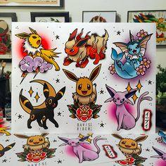 Pokemon Tattoo Ideas found via IG Nerdy Tattoos, Anime Tattoos, Body Art Tattoos, Sleeve Tattoos, Tatoos, Tattoo Sleeves, Cartoon Tattoos, Hand Tattoos, Tattoo Flash Art