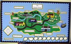 Katy Morag Map Work adapt this for devon/england Teaching Displays, Class Displays, School Displays, Classroom Displays, Teaching Geography, Primary Teaching, Primary School, Teaching Ideas, Environment Topic