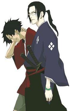 Samurai Champloo - Jin and Mugen Awesome Anime, Anime Love, Anime Guys, Samurai Anime, Samurai Art, Manga Anime, Anime Art, Cowboy Bebop Tattoo, Grimgar