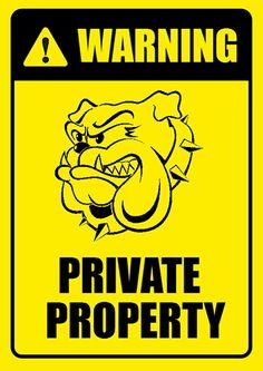Decorative Private Property Signs No Trespassing Signs Security Signs Private Property Signs