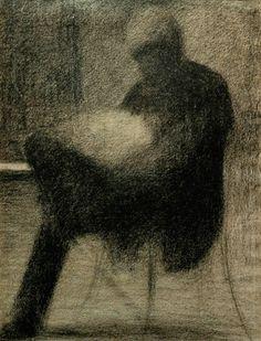 Seurat - man reading 1884