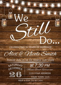 Vow Renewal Invitation. Wedding Anniversary by NiceStudioForYou