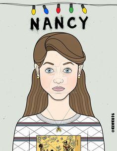 Nancy wheeler - stranger things by Nancy Wheeler Stranger Things, Stranger Things Lights, Stranger Things Tattoo, Stranger Things Aesthetic, Stranger Things Season 3, Stranger Things Funny, Easy Drawings, Easy Sketches, Stickers