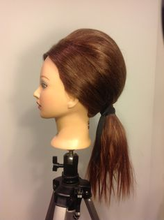 Bouffant low ponytail side