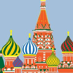 St Basil's Cathedral Print by @Sandra Pendle Pendle Igbodo on Etsy,
