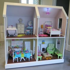 Listing is for an electronic pdf file of plans only - not actual dollhouse    This listing is for a pdf file American Girl Doll or 18 inch doll